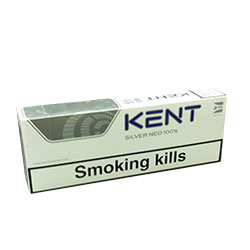 Kent Silver Neo 100`s Charcoal Triple Filter Cigarettes
